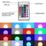 Esbaybulbs Ampoules de couleur E14 10W RGBW LED Ampoules Dimmable 16 changement de couleur Lampe lumière avec telecommande sans fil de la marque Esbaybulbs image 2 produit