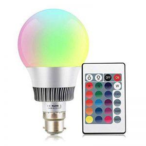 Esbaybulbs Ampoules LED RGBW 10W B22 Baïonnette 16 Couleur Changeante Ampoule avec Télécommande pour la Décoration maison Party Bar KTV de la marque Esbaybulbs image 0 produit