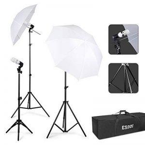 ESDDI Kit Studio de Photographie Kit d'Éclairage Continu Blanc Parapluie Réfléchissant avec 45W 5500K Ampoule de Lumière du Jour pour La Prise de Vue d'Appareil-Photo de Portrait de la marque ESDDI image 0 produit
