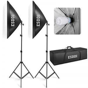 ESDDI Softbox, Kit Eclairage Studio Photo, 800W 2 Soft Box 50x70cm Lumière Continue 5500K pour Photo de Mode, Portrait, Produits Commerciaux, Packshot et Vidéo de la marque ESDDI image 0 produit