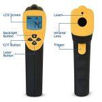 Etekcity 800 Thermomètre Infrarouge sans Contact Laser DE -50°C à 750°C, Pile fournie, Ecran LCD Rétroéclairé, Jaune de la marque Etekcity image 1 produit
