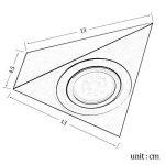 Everso - Spot triangulaire à LED en acier inoxydable pour dessous de meuble plafonnier chaud ou froid de la marque everso image 4 produit