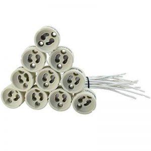 Evolution GU10 socket base en céramique avec la qualité 0,75mm² Silicon Câble pour LED et halogène Lot de 10 pièces de la marque Evolution image 0 produit