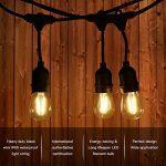 Extérieur Guirlandes Lumineuses,Tomshine 15PCS LED Ampoules guirlande guinguette, étanche IP65, 15 Mètres/49.9FT, E27 Base, Raccordable au maximum 40 Brins, Connectable Chaîne de lumières ( Blanc Chaud) (CE test,Haute qualité) de la marque Tomshine image 1 produit