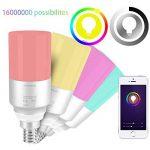 EXTSUD Ampoule E14 Connectée WIFI Intelligente Lampe LED 5W Dimmable Contrôlé par Amazon Echo Alexa, Smartphone Android et iOS, Tablette de la marque EXTSUD image 1 produit
