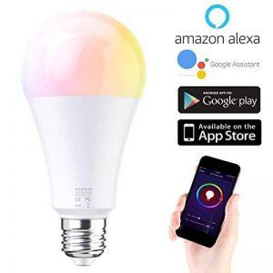 EXTSUD Ampoule WIFI 10W E27 Connectée Intelligente Lampe LED Dimmable Contrôlé par Amazon Echo Alexa, Smartphone Android et iOS, Tablette de la marque EXTSUD image 0 produit