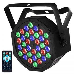 Eyourlife 36W Par Led Projecteur Lampe de Scène RGB Lumière DMX Jeu de Lumière à 36 LED Sound Auto Mode avec Télécommande Pour Dj Disco Soirée Anniversaire Mariage de la marque Eyourlife image 0 produit