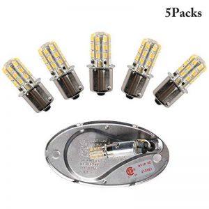Facon 12V LED Ampoule 2W Blanc Chaud Lampe de Rechange pour Camping-Car, Caravane, Camping-Car/Marine Bateau Camion Automotive Lighting Bulbs (Lot de 5) de la marque Facon image 0 produit