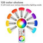 FARY Lux LED RGBW Changement de couleur Lampe avec télécommande, ampoule A19E2710W, 90couleurs choisir, 50W ampoule à incandescence gleichwertig, double de stockage et interrupteur mural Commande (Blanc froid, 1pack) de la marque Farylux LED image 2 produit