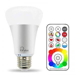 FARY Lux LED RGBW Changement de couleur Lampe avec télécommande, ampoule A19E2710W, 90couleurs choisir, 50W ampoule à incandescence gleichwertig, double de stockage et interrupteur mural Commande (Blanc froid, 1pack) de la marque Farylux LED image 0 produit