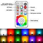 FARY Lux LED RGBW Changement de couleur Lampe avec télécommande, ampoule A19E2710W, 90couleurs choisir, 50W ampoule à incandescence gleichwertig, double de stockage et interrupteur mural Commande (Blanc froid, 1pack) de la marque Farylux LED image 1 produit