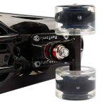 FunTomia® Planche à roulettes Big Wheel Mini-skateboard 57cm - avec roulements ABEC-11 - style Retro cruiser en plastique de la marque FunTomia image 3 produit