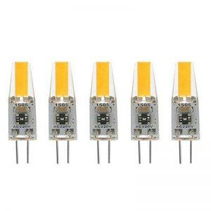 G4 LED 220V 2W 2700K blanc chaud 200LM, ampoules en silicone remplacent les ampoules halogènes traditionnelles 20W, paquet de 5 unites de la marque ZSZT image 0 produit