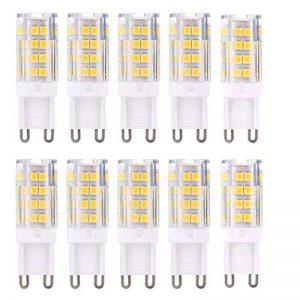 G9 Ampoule LED 5W Equivalent 40W Halogène Blanc Chaud 3000K 420lm AC 220V-240V 360 Degrés D'angle De Faisceau Non-Dimmable Céramique(Lot de 10) de la marque Maxsal image 0 produit