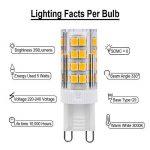 G9 Ampoule LED 5W, Équivalent à 30W Ampoule Halogène, Blanc Chaud 3000k, 350LM , 51 SMD 2835 LEDs, 330°Angle de Faisceau, AC 220V-240V, Lampe Basse Consommation, Non-Dimmable, Pack de 6 Unités de la marque xyd-led image 2 produit