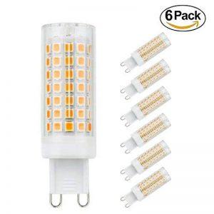 G9 Ampoules LED, 6-Pack 5W ampoules à économie d'énergie sans scintillement, sans stroboscope, 560LM, blanc chaud, AC 110-230V de la marque SOBROVO image 0 produit