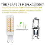 G9 Ampoules LED, 6-Pack 5W ampoules à économie d'énergie sans scintillement, sans stroboscope, 560LM, blanc chaud, AC 110-230V de la marque SOBROVO image 2 produit