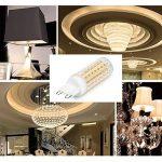 G9 Ampoules LED, 6-Pack 5W ampoules à économie d'énergie sans scintillement, sans stroboscope, 560LM, blanc chaud, AC 110-230V de la marque SOBROVO image 4 produit