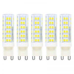 G9 Energy Saver Ampoule LED,7W/500LM (Equivalent 50W Ampoules halogènes/Incandescente) Blanc Chaud 3000k,360° angle de Faisceau,220V, Lot de 5 de la marque baoxing image 0 produit