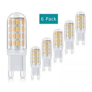 G9 LED Ampoule, 3W, 380LM, Blanc Chaud, AC100-265V, 360° Angle de Faisceau, Non-Dimmable Kyodoled, Pack de 6 Unités de la marque Ossuip image 0 produit