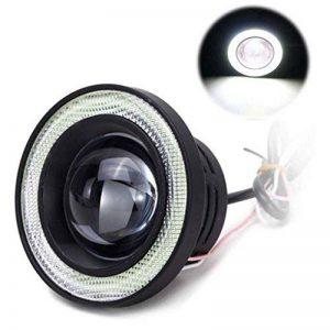 Gankmachine 2pcs 3200LM Car COB LED Angel Eyes Phares antibrouillard Objectif Projecteur Halo Bague Lampe Xenon Brouillard de la marque Gankmachine image 0 produit