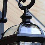 GBYZHMH Meilleurs voeux shop wall lamp-Vintage Wall Lamp Lampe Murale étanche à l'extérieur pour l'éclairage de rue Cour Balcon allée E27 (couleur: noir ) de la marque GBYZHMH image 3 produit