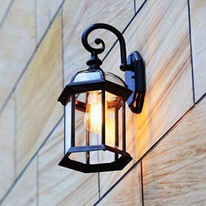 GBYZHMH Meilleurs voeux shop wall lamp-Vintage Wall Lamp Lampe Murale étanche à l'extérieur pour l'éclairage de rue Cour Balcon allée E27 (couleur: noir ) de la marque GBYZHMH image 0 produit