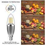 Gezee Bougie à LED Ampoules E14 12W, 1200LM, Blanc Chaud 3000K équivalent à 100W Ampoule à incandescence, Edison Screw Light Ampoules, non dimmable, Lot de 4 de la marque Gezee image 4 produit