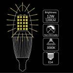 Gezee Bougie à LED Ampoules E14 12W, 1200LM, Blanc Chaud 3000K équivalent à 100W Ampoule à incandescence, Edison Screw Light Ampoules, non dimmable, Lot de 4 de la marque Gezee image 2 produit