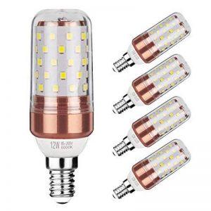Gezee LED Ampoule de maïs E14 12W Candélabre ampoules 100W équivalent, 1200LM, Blanc Froid 6000K ampoules LED Lustre décoratifs, non dimmable, Lot de 5 de la marque Gezee image 0 produit