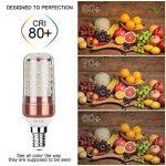 Gezee LED Ampoule de maïs E14 12W Candélabre ampoules 100W équivalent, 1200LM, Blanc Froid 6000K ampoules LED Lustre décoratifs, non dimmable, Lot de 5 de la marque Gezee image 4 produit