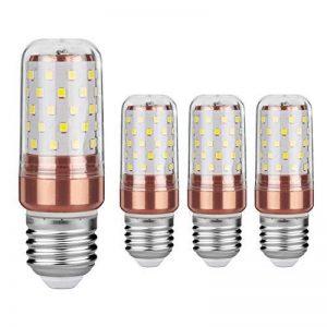Gezee LED Ampoule de maïs E27 12W Candélabre ampoules 100W équivalent, 1200LM, Blanc Chaud 3000K ampoules LED Lustre décoratifs, non dimmable, Lot de 4 de la marque Gezee image 0 produit