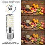 Gezee LED Argent Maïs ampoules E27 15W Candélabre ampoules 120W équivalent, 1500Lm, Blanc Froid 6000K ampoules LED Lustre décoratifs, non dimmable, Lot de 4 de la marque Gezee image 2 produit