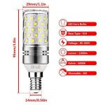 Gezee LED Argent Maïs ampoules E14 12W Candélabre ampoules 100W équivalent, 1200LM, Blanc Froid 6000K ampoules LED Lustre décoratifs, non dimmable, Lot de 4 de la marque Gezee image 1 produit