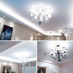 Gezee LED Argent Maïs ampoules E14 12W Candélabre ampoules 100W équivalent, 1200LM, Blanc Froid 6000K ampoules LED Lustre décoratifs, non dimmable, Lot de 4 de la marque Gezee image 3 produit