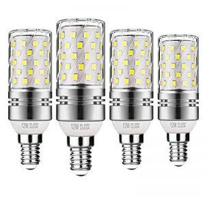 Gezee LED Argent Maïs ampoules E14 12W Candélabre ampoules 100W équivalent, 1200LM, Blanc Froid 6000K ampoules LED Lustre décoratifs, non dimmable, Lot de 4 de la marque Gezee image 0 produit