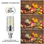 Gezee LED Argent Maïs ampoules E14 12W Candélabre ampoules 100W équivalent, 1200LM, Blanc Froid 6000K ampoules LED Lustre décoratifs, non dimmable, Lot de 4 de la marque Gezee image 4 produit