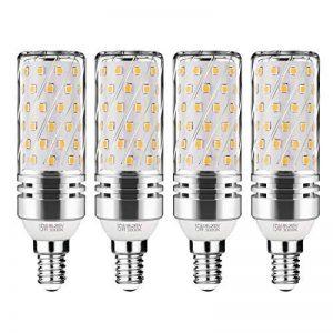 Gezee LED Argent Maïs ampoules E14 15W Candélabre ampoules 120W équivalent, 1500Lm, Blanc Chaud 3000K ampoules LED Lustre décoratifs, non dimmable, Lot de 4 de la marque Gezee image 0 produit