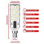 Gezee LED Argent Maïs ampoules E14 15W Candélabre ampoules 120W équivalent, 1500Lm, Blanc Froid 6000K ampoules LED Lustre décoratifs, non dimmable, Lot de 4 de la marque Gezee image 1 produit