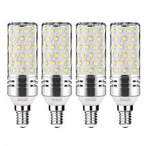 Gezee LED Argent Maïs ampoules E14 15W Candélabre ampoules 120W équivalent, 1500Lm, Blanc Froid 6000K ampoules LED Lustre décoratifs, non dimmable, Lot de 4 de la marque Gezee image 0 produit