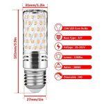 Gezee LED Argent Maïs ampoules E27 15W Candélabre ampoules 120W équivalent, 1500Lm, Blanc Chaud 3000K ampoules LED Lustre décoratifs, non dimmable, Lot de 4 de la marque Gezee image 1 produit
