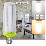 Glamouro Maïs ampoules LED 20W 2000lumens pour maison de cuisine Salon salle à manger Bureau Garage Atelier porche Lot de 2, Lumière diurne, 20 Watts B22, B22 de la marque Glamouro image 3 produit
