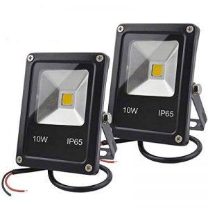 GLW 12V AC ou DC LED Lumière d'inondation, 10W Mini IP65 extérieure imperméable à l'eau de travail, 900lm, 3000K, Lumière de sécurité blanc chaud, 80W Ampoule halogène équivalente, 2 Pack NO Plug de la marque GLW image 0 produit