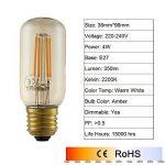 GMY Lighting® 4Pack T38 Style D'Edison LED Filament Ampoule Longue 4W 220-240V E27 2200K Ambre de la marque GMY Lighting image 1 produit