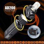 Godox AD200 TTL Mini Portable Flash Speedlite avec 2 têtes d'éclairage GN52 GN60 1/8000 s HSS intégré 2.4 G sans fil X système 200W puissance forte pour les appareils photo EOS de Canon Nikon Sony de la marque Godox image 1 produit