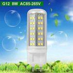 Gran voo Lot de 4G128W Blanc froid LED Lumière avec cadre en aluminium + PC Couverture AC 85–265V 84x 2835SMD de la marque Granvoo image 2 produit