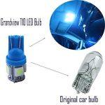 Grandview 10-Pack T10 501 W5W 194 168 Bleu Glace 5-SMD 5050 LED Intérieur de voiture, plaque de numéro, tableau de bord Ampoules de démarrage (12 V) de la marque Grandview image 2 produit