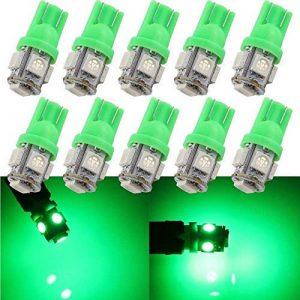 GrandView 10pcs T10 501 LED ampoules Super lumineux W5W 5-SMD 5050 LED ampoule de la marque Grandview image 0 produit