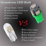 GrandView 10pcs T10 501 LED ampoules Super lumineux W5W 5-SMD 5050 LED ampoule de la marque Grandview image 3 produit