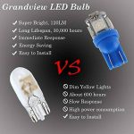 Grandview T10 501 Ampoule LED 24V T10 Super lumineux W5W 194 165 Bleu 5-SMD 5050 LED Intérieur de la voiture, Tableau de bord, Plaque d'immatriculation, Lampes frontales Ampoules de démarrage Pack de 10 de la marque Grandview image 3 produit